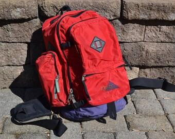 Vintage Red KELTY Backpack | Vintage KELTY Hiking Pack | Retro Hiking Bag | Red Padded Hiking Backpack | Kelty Bags | Camping Bag |