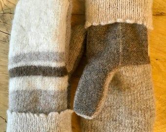 Wool Sweater Mittens (L)