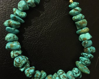 Turquoise  Chunk Stackable Bracelet