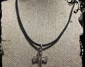 Cross on a rope all of our necklaces custom made to fit