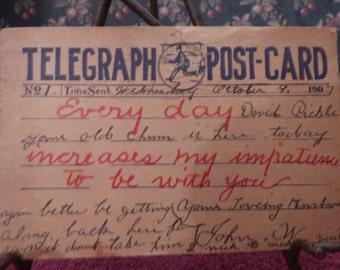 Vintage Telegraph Postcard