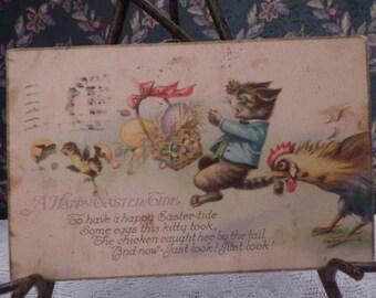 Vintage Easter cartoon postcard