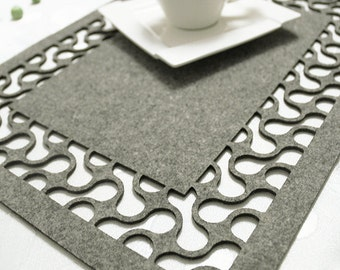 Felt placemat, modern placemat, stylish placemat, table placemat, 19 colors - Lozanna