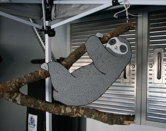 SLOTH YArd Art hangin' out in the tree! (2 to choose from)