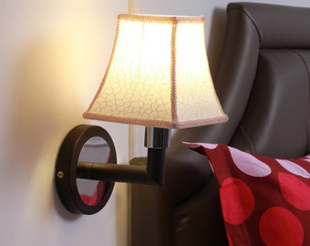 Smitten Off White Beige Fabric Wall Lamp
