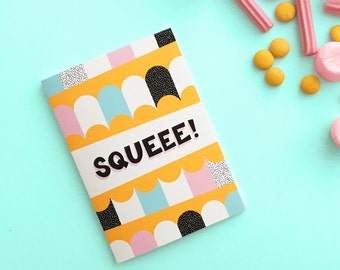 Squeee hand-lettered greeting card