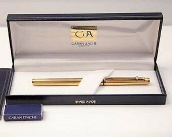 Caran d Ache gold plated fountain pen