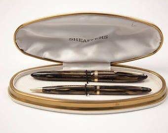 Sheaffer Balance pen set pearl brown 1930s