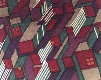 Vintage Necktie / Silk Geometric