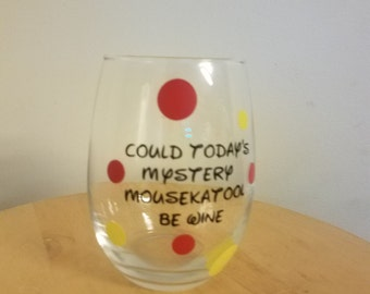 Steamless Wine Glass with Mickey Mouse Clubhouse