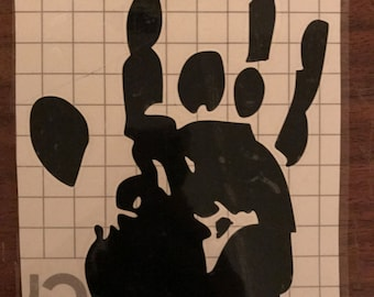 Jerry Garcia Handprint Grateful Dead Vinyl Decal