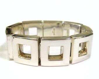 Modernist Sterling Silver Bayanihan Bracelet - X4108
