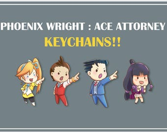Ace Attorney Keychains