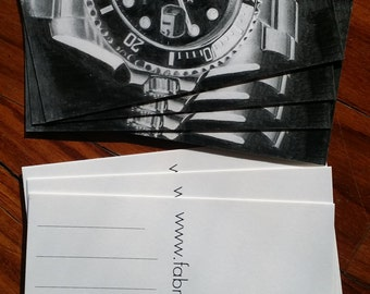 28 Rolex Submariner postcard