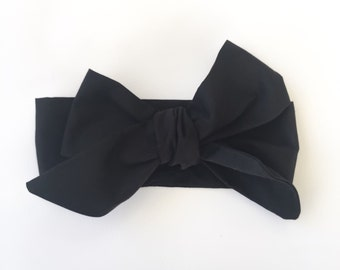 Black headwrap, baby headwrap, baby headband, black headband, headwrap