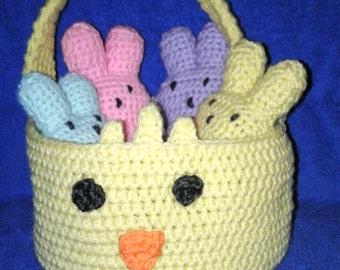 Chick Easter Basket full of Peeps