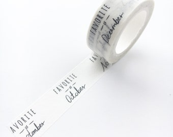 My Favorites Of the Month Washi Tape