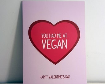 Vegan Valentine's card