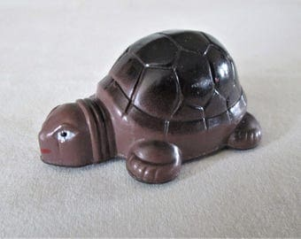 1970s Turtle Toy with 3 Wheels Plastic Original Collectible Vintage