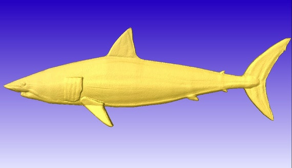 Shark 3d Vector Art Model For Cnc Projects Or Carving