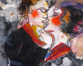 Contemporary Art, Abstract Painting, Inks, Mixed Medias, Tango, Dance Painting,