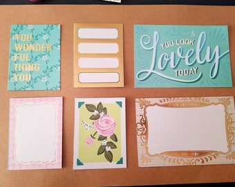 Vintage Style Rose Note Cards- set of 6