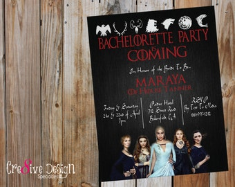 Bachelorette Party Is Coming Game Of Thrones - Custom Printable Invitation, G.O.T., Women of G.O.T.,