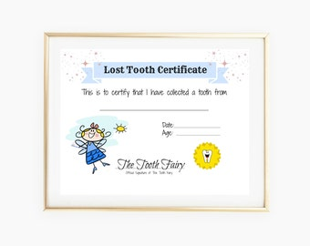 Girl Tooth Fairy Certificate, Tooth Fairy Gifts, Baby Milestone Card, Tooth Fairy Letter, Keepsake Letter, Gift For Girl