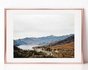 Autumn, Mountain View, Landscape Photography, Japan, Download Digital Photography, Print, Downloadable Image, Printable Art, Artwork