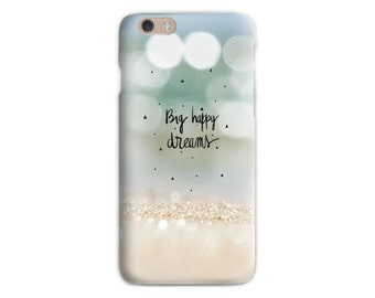 Beach iPhone 6 case Inspiration Soft silicone Sand iPhone case Pastel iPhone case Gift for her iPhone 5 Romantic Birthday gift for teens