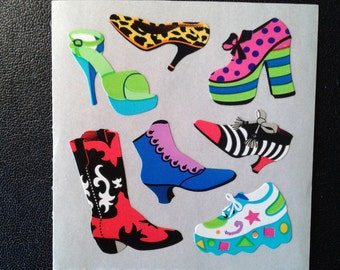 Sandylion Stickers Scrapbooking vintage SHOES, High Heels  (1 mod)