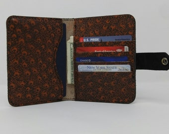 Handmade Ostrich Embossed Leather Passport Wallet