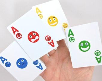 Playing Cards / Emoji / Educational Games / Emotional Intelligence / Emotional Development / Teacher Gifts / Psychology Gifts