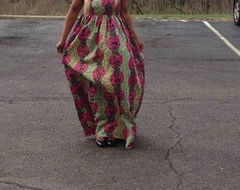 African print,  Ankara tube less dress