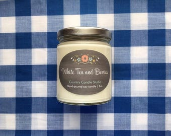 White Tea and Berries Soy Candle