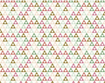 White Triangle On Trend Riley Blake Fabric by the Yard