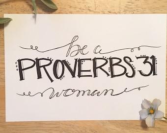 Proverbs 31 Woman Print