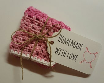 Crochet Dishcloths - Pink Ombre