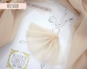 12 Light Peach Soft Luxury Tulle Fabric, Tulle Material Wholesale, Tutu Fabric - 3m width