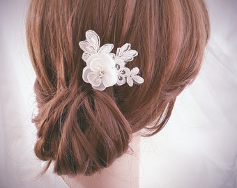 Bridal Comb, Lace Wedding Hair Comb, Flower Hair Pin, Small Hair Pin
