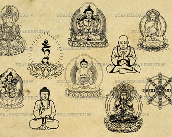 Digital SVG PNG JPG, buddhism, buddha, buddha thai, religion, clipart, vector, silhouette, instant download