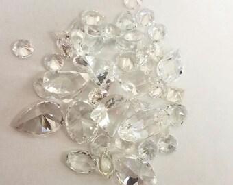 Colorless/Cubic Zirconia Imitation Gemstone Mix