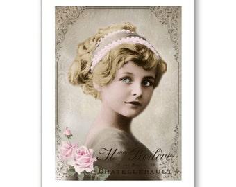 Personalised Handmade Greetings Card ~ Vintage Postcard of A Child  #20