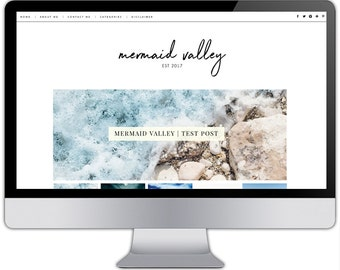 Premade responsive blogger template - MERMAID VALLEY