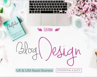 Blogging Website Design, Wordpress Blog Website Design, Custom Website Design, Blog, Fashion Blog Website, Home Decor Blog, Unique Design