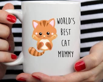 World's Best Cat Mummy Mug | Cute Mug | Animal Mug | Pet Mug | Mothers Day Mug | Cat Mug | Ginger Cat Mug | Funny Mug | Mothers Day Cat Mug