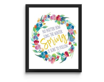 Spring Printable - Instant Download
