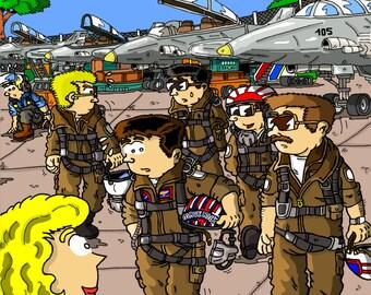 Print (poster) size A3 Top Gun