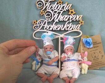"""OOAK """"Twins"""" polimer clay dolls by V.Vihareva-pechenkina"""
