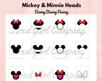 Customizable Svg Disney Characters Mickey and Minnie SVG Disneyland Svg Files | Files for INSTANT DOWNLOAD | Cricut Machine Ready Images